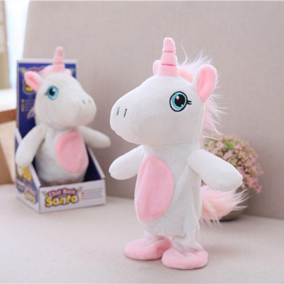Talking Stuffed Unicorn Plush Doll