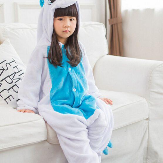 Kids Blue Unicorn Onesie