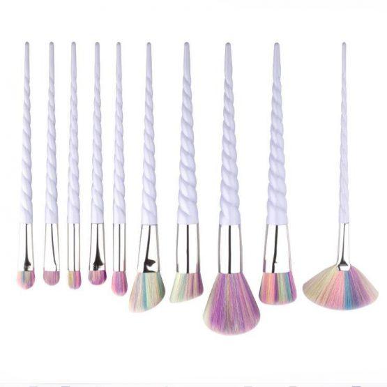 Unicorn Makeup Brushes Set (10)