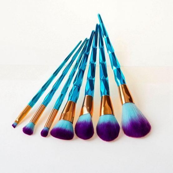 Diamond Unicorn Makeup Brushes