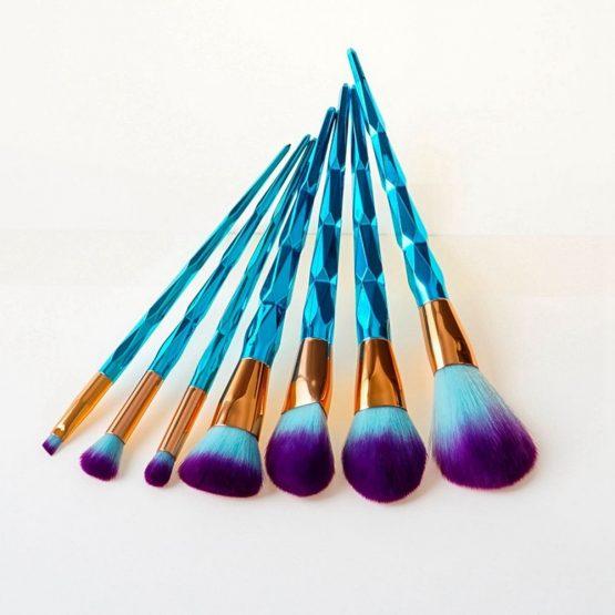 Diamond Unicorn Makeup Brushes