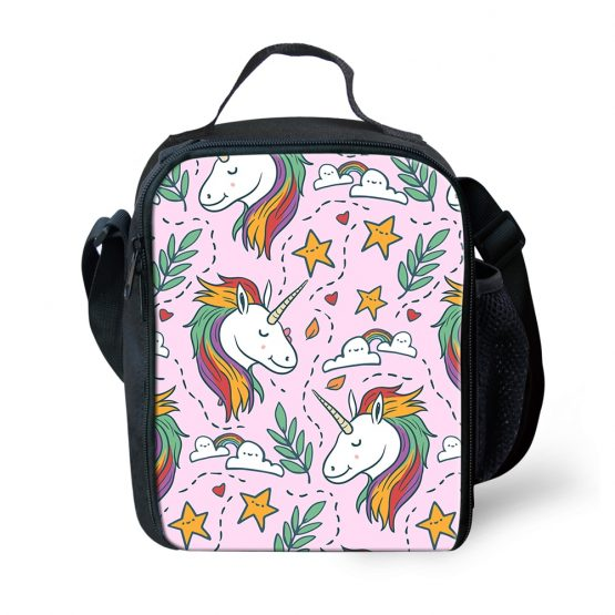 Unicorn Print Carry Lunch Bag