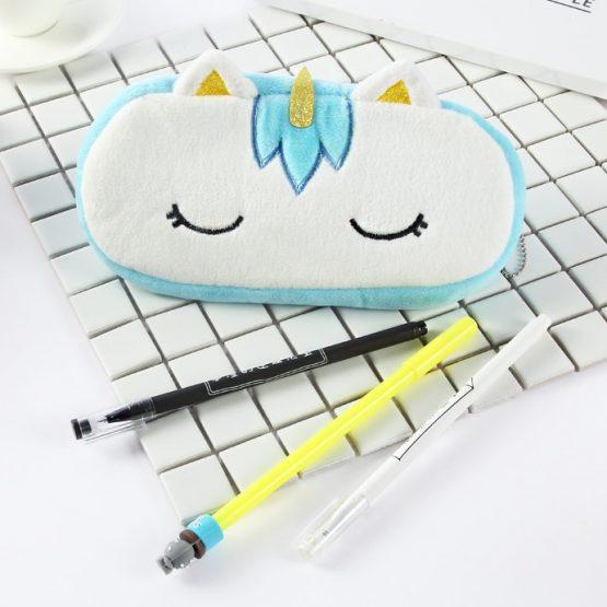 Plush Unicorn Pencil Bag