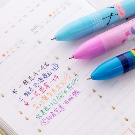 6 Colors In 1 Unicorn Pen
