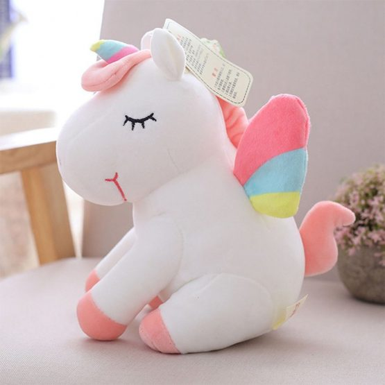 Soft Cuddly Unicorn Plush Toy – White