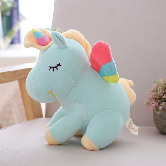 Soft & Cuddly Unicorn Plush Toy – Blue
