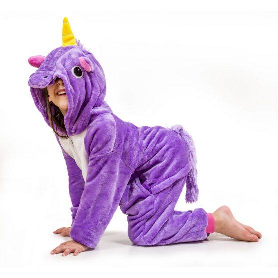 Purple Unicorn Onesie – Kids