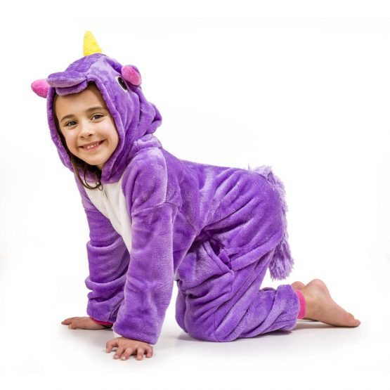 Purple Unicorn Onesie – Kids